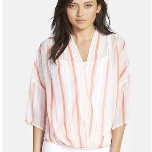 NWT Chelsea28 Nordstrom Kimono Wrap Top Sheer S
